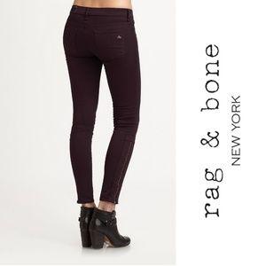RAG & BONE Jeans Devi Skinny Ankle Zip Twill Pant